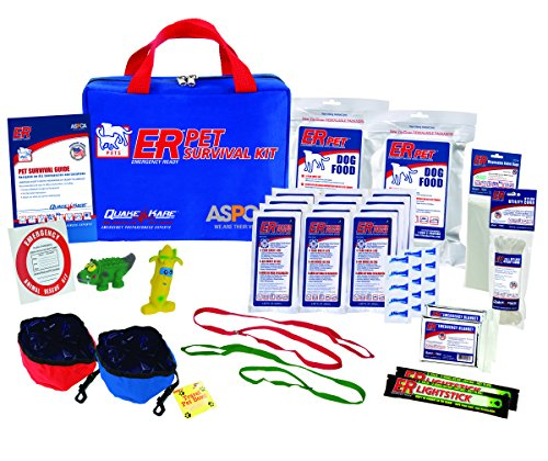 ER Emergency Ready Ultimate Deluxe Pet Survival Kit for Two Dogs, - Pet Survival Kit