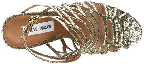 Steve Madden Slithur-G, Sandalias de Tacón para Mujer Dorado (Gold)