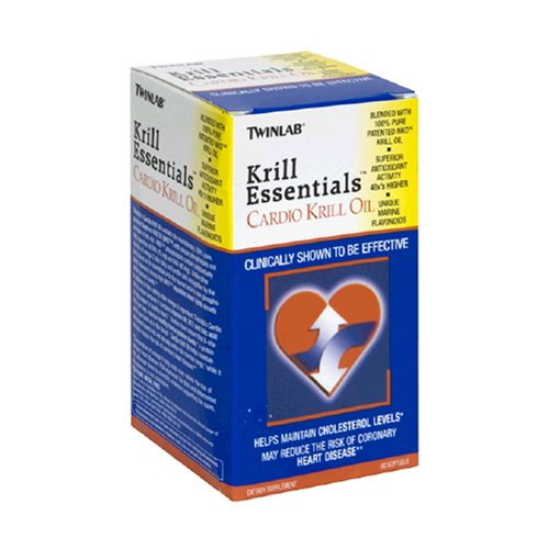 TwinLabs Cardio huile de krill, 60 gélules