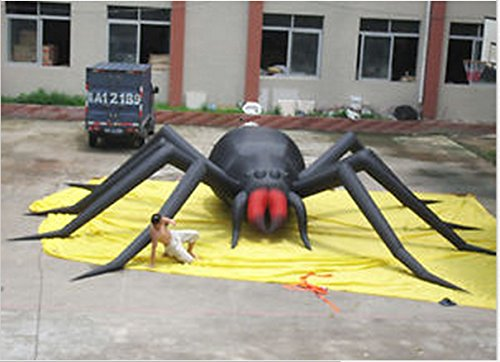 30ft 9m Inflatable Spider Halloween Holiday Decoration with Blower (220 Volt Halloween)