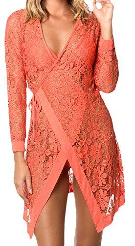 erdbeerloft - Vestido - vestido - para mujer naranja
