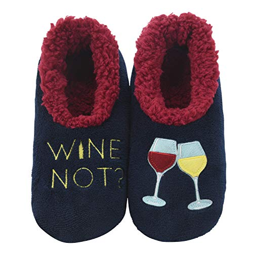 Snoozies Pairables Womens Slippers - House Slippers - Wine Not? - X-Large
