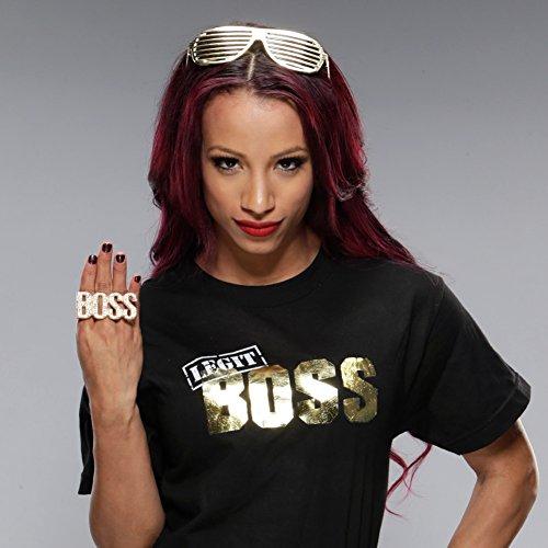 sasha banks legit boss authentic t shirt m amazon co uk clothing