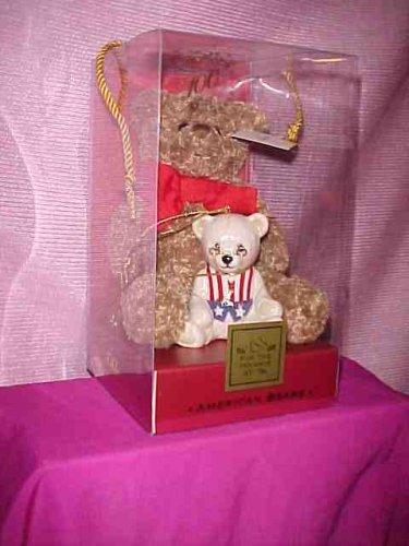 Lenox China 100th Anniversary American Bears Teddy Bear New Plush and Porcelain Ornament