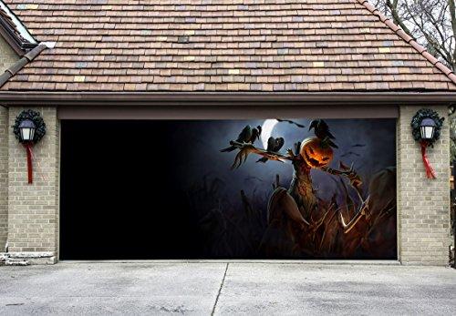 Halloween Decor for Garage Door Outdoor Decorations of House Pumpkin Billboard GD8 (Halloween Decorations Garage Door)