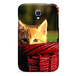 BESIjUi5169fTNZU MichelleNCrawford Awesome Case Cover Compatible With Galaxy S4 - Kitten In Wicker Basket