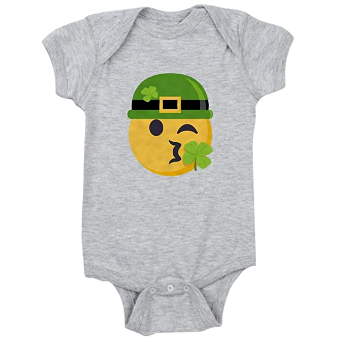 240435bdde527 Amazon.com  CafePress Shamrock Kiss (W Hat) Cute Infant Bodysuit ...