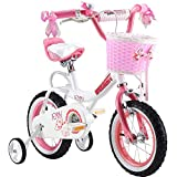 Y & Y TOY STORE ON LINE Girls' Jenny Kids Bike Bicycle Stabilisers, Pink, R BABY 12'