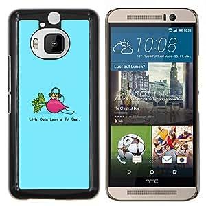 Jordan Colourful Shop - Funny Fat Beet For HTC One M9+ / M9 PLUS Personalizado negro cubierta de la caja de pl????stico