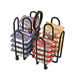 Tablecraft (597CBK) Powder Coated Steel Packet Rack [Set of 12]