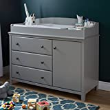 South Shore Cotton Candy Changing Table with Removable Changing Station, Soft Gray