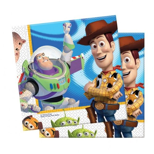 Luncheon Napkins 2 Ply Licensed Toy Story 3 For Disposable Party Tableware