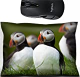 Liili Mouse Wrist Rest Office Decor Wrist Supporter Pillow Atlantic Puffin standing in grass Iceland Photo 20479452
