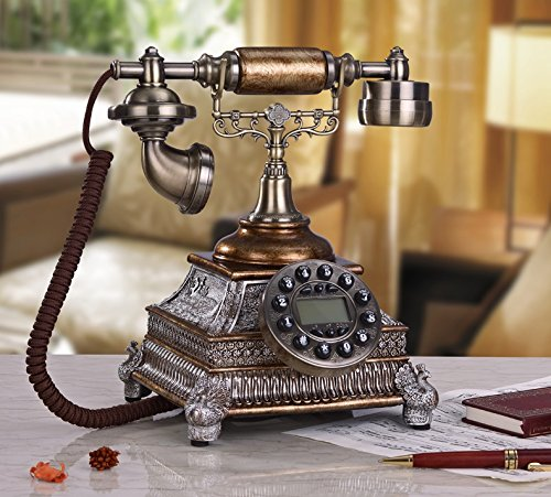 Desktop villa luxury home decoration antique telephones European classical retro nostalgia vintage telephone , D