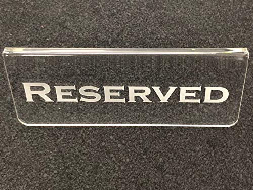 Reserved Sign - Deluxe Laser Engraved Reserved Table Tent Set of 4 ()