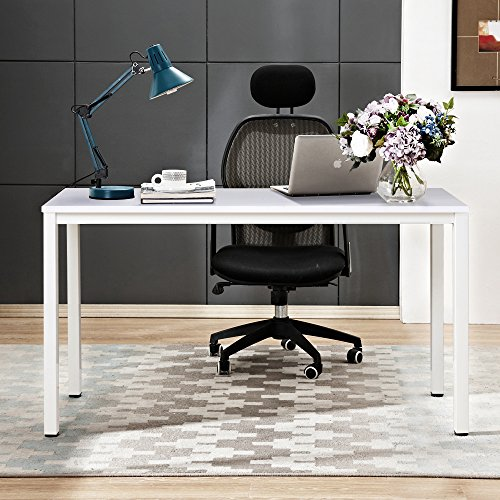 Need Computer Desk 63 inches Large Desk Writing Desk with BIFMA Certification Workstation Office Desk,White AC3DW-160 ()