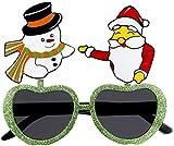Forum Novelties Novelty Holiday Glasses, Santa/Snowman, One Size