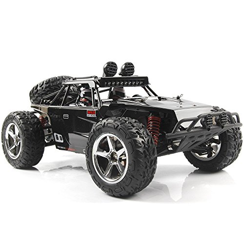 AHAHOO 1:12 Scale RC Cars 35MPH+ High Speed Off-Road Remote Control Vehicle 2.4Ghz Radio Controlled Racing Monster Trucks Rock Climber with LED Light Vision (Black)