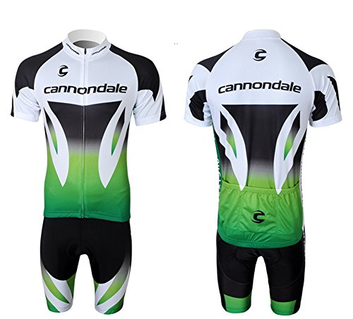 2014 Cannondale Sports Pro Team Men's ShortSleeve Cannondale Cycling Jersey and Shorts Set Green ()