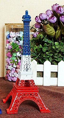 Gold Happy Bronze Tone Paris Eiffel Tower Statue Antique Figurine Home Decor Vintage Metal
