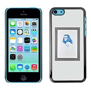 SKCASE Center / Funda Carcasa - Marco Hippie azul impresiones;;;;;;;; - iPhone 5C