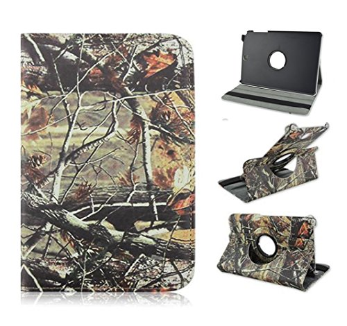 Tsmine Samsung Galaxy Tab 3 Lite 7.0 Camo Case - Premium 360 Degree Rotating PU Leather Case Camouflage Branch Straw Mossy Leaves For Samsung Galaxy Tab 3 Lite 7.0 SM-T110/T111/T113, Brown Branches