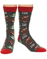 Nintendo Super Mario All Over Print Crew Socks, sock size 10-13, fits