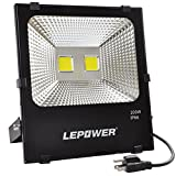 #4: 100W New Craft LED Flood Lights, Super Bright Work Lights, 500W Halogen Bulb Equivalent, IP66 Waterproof, 8000Lm, 6500K, Outdoor Floodlight for Garage, Garden, Lawn and Yard ( White Light)