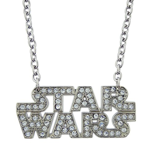 Star Wars Logo Necklace Pendant Last Jedi Movie Halloween Costume Metal Fashion (Star Wars Text Rhinestones ()
