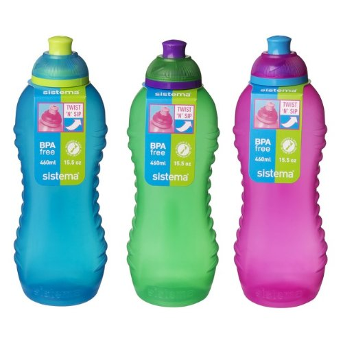 [Sistema Twist 'N' Sip Collection Drink Bottle, 15.5 Ounce, Assorted Colors] (Cup Halloween Sipper)