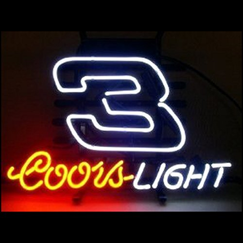 Coors Light Mirror - Coors Light NASCAR #3 DALE Beer Bar Pub Neon Sign Handcrafted 19x15.