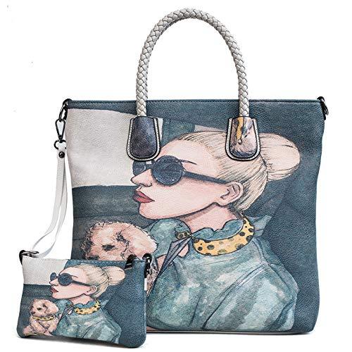 chiaro a a GSYDXKB spalla tracolla grigio estiva mano Borsa pacchetto stampa borsa donna borsa femminile borsa nuova diagonale RTq4xn1