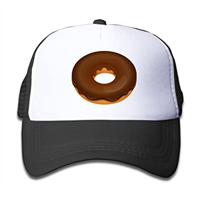 NO4LRM Kid's Boys Girls Chocolate Donut Youth Mesh Baseball Cap Summer Adjustable Trucker Hat