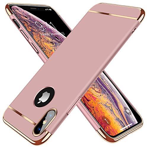 TORRAS [Lock Series iPhone X Case/iPhone Xs Case, Thin 3 in 1 Hybrid Hard Plastic Matte Finish Slim Cover Anti-Scratch Phone Case for iPhone Xs/X 5.8