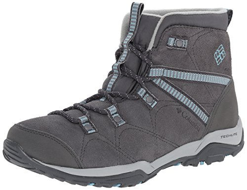 Columbia Women's Minx Fire Mid Lace Cold Weather Boot, Shale/Aqua, 9 M US