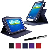 roocase Galaxy Tab 3 7.0 Case - Dual View PU Leather Case Cover Stand for Samsung Galaxy Tab 3 7.0 inch, Navy