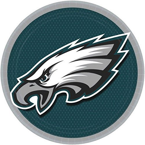 DesignWare Philadelphia Eagles NFL Round Plates, 9