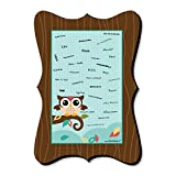 Big Dot of Happiness Owl - Look Whooo's Having A Party - Unique Alternative Guest Book - Baby Shower or Birthday Party Signature Mat