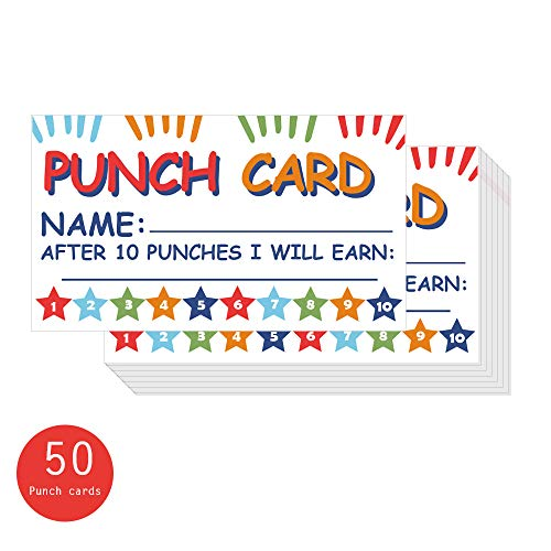 Punch Card Incentive Reward Card Business Fun Home Education for Kids Students Teachers Parents 3.5