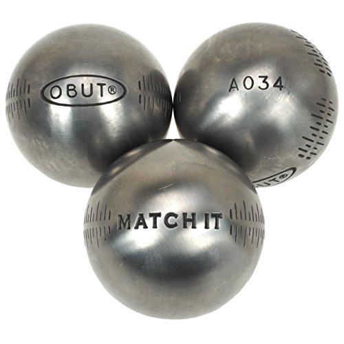 Obut Match it inox 72mm deco g - Boules de pétanque