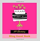18th Birthday Decorations in All Departments: Bling GUEST BOOK Classy Silver Inside Foil Fleur de Lis End Pages 18th Birthday Decorations in Party ... (18th Birthday Guest Book) (Volume 1)