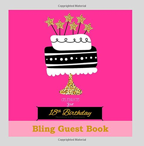 18th Birthday Decorations in All Departments: Bling GUEST BOOK Classy Silver Inside Foil Fleur de Lis End Pages 18th Birthday Decorations in Party ... (18th Birthday Guest Book) (Volume 1) by CreateSpace Independent Publishing Platform