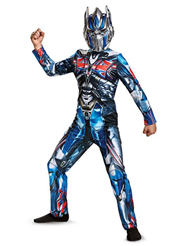 Optimus Prime Transformer Costumes (Disguise Optimus Prime Movie Classic Costume, Blue, Small)