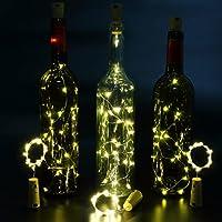 6pcs Botella Luces – 100cm botella de luz Con 20 bombillas LED, lampara botellas para la botella DIY, partido, decoración, la Navidad, Víspera de ...