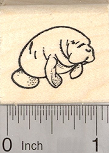 Manatee Rubber Stamp, Small