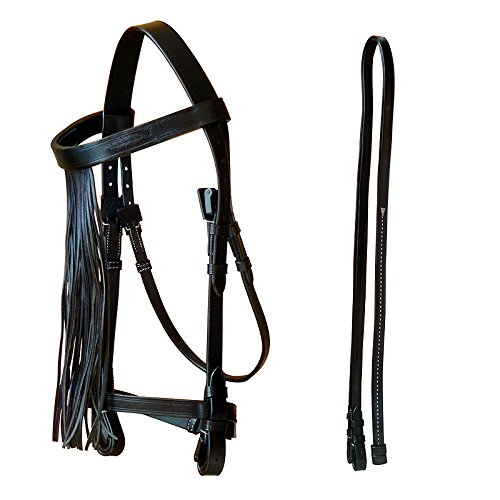 Marjoman New Leather Spanish Portuguese Bridle with reins