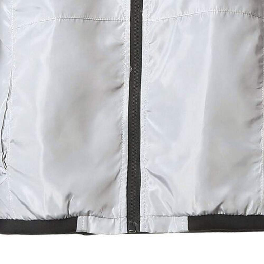 Ximandi Men Casual Jacket Warm Baseball Coat Slim Fit Windproof Outwear