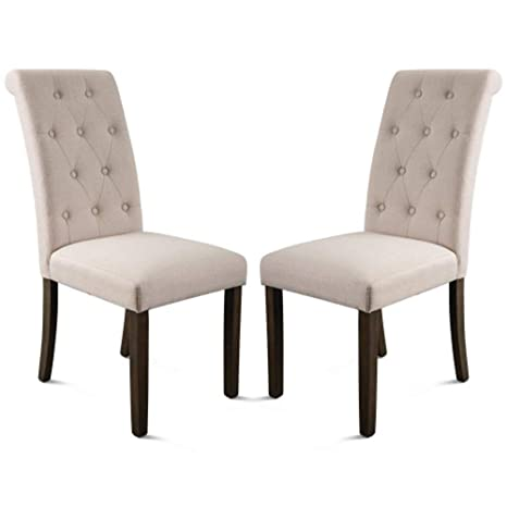 Admirable Amazon Com Naqifu Dining Chair 2 Pack Modern Upholstered Machost Co Dining Chair Design Ideas Machostcouk