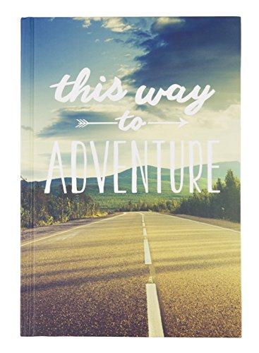 "Eccolo World Traveler 6 x 8"" Hardcover Travel Journal, This Way to Adventure (Q402E)"