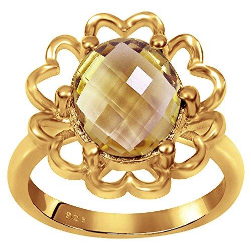 ne 18k Gold Over Sterling Silver Women's & Girls Floral Ring ()